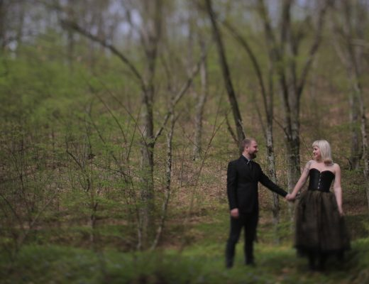 couple in the woods